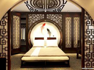 Дизайн спальни по феншуй фото