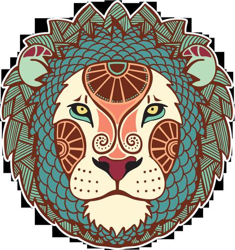 Изображение знака зодиака льва