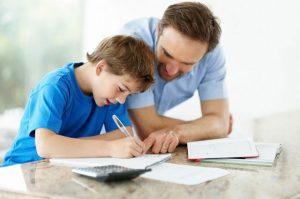 Папа учит ребенка по астрологии
